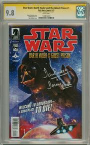 Star Wars Darth Vader Ghost Prison #1 CGC 9.8 Signature Series SS Signed David Prowse Dark Horse comic book